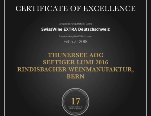 Vinum 2018 Certificate of Excellence