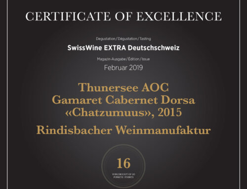 Vinum 2019 Certificate of Excellence